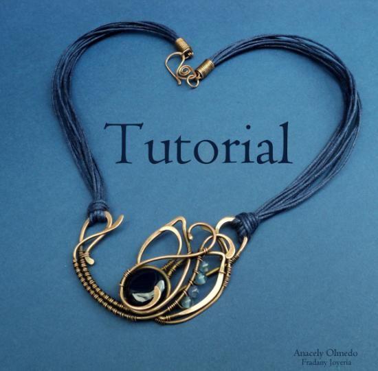tutorial - archivo pdf disponible en español e inglés.  cobre,agata,cuarzo wire wrapped,alambrismo