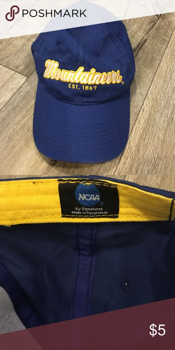 WVU Mountaineers Hat WVU Mountaineer Hat, Hardly Worn! Hardly Worn and needs a new owner to another Mountaineer! 💙💛 Bundle & Save!! Make me an Offer! NCAA Accessories Hats