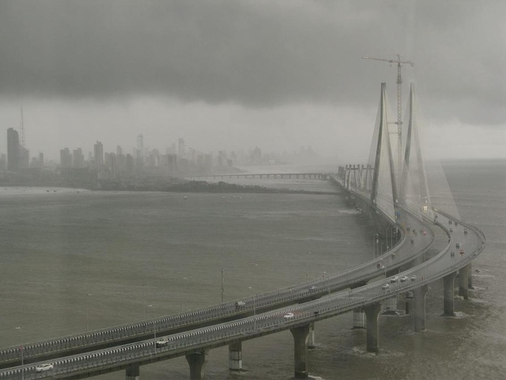 Mumbai, The Sea Link, During The Approaching Monsoon