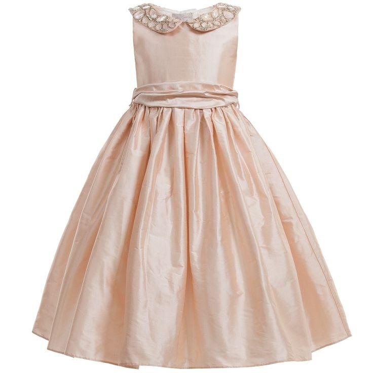 Nicki Macfarlane Pale Pink Silk Taffeta 'Serena' Dress at Childrensalon.com