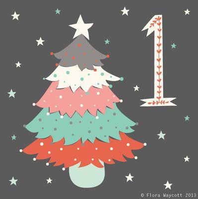 flora waycott christmas advent day 1 christmas tree. Black Bedroom Furniture Sets. Home Design Ideas