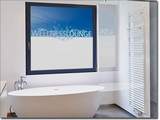 Sichtschutz Wellness Lounge Sichtschutzfolie Fensterfolie Massageraum