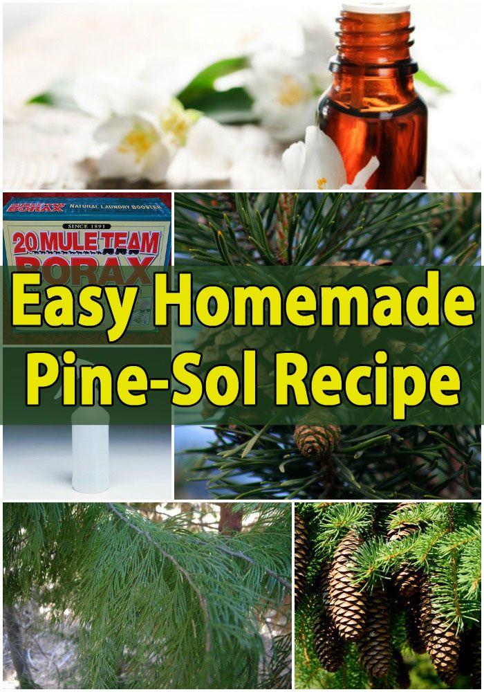 Easy Homemade Pine-Sol { Recipe }