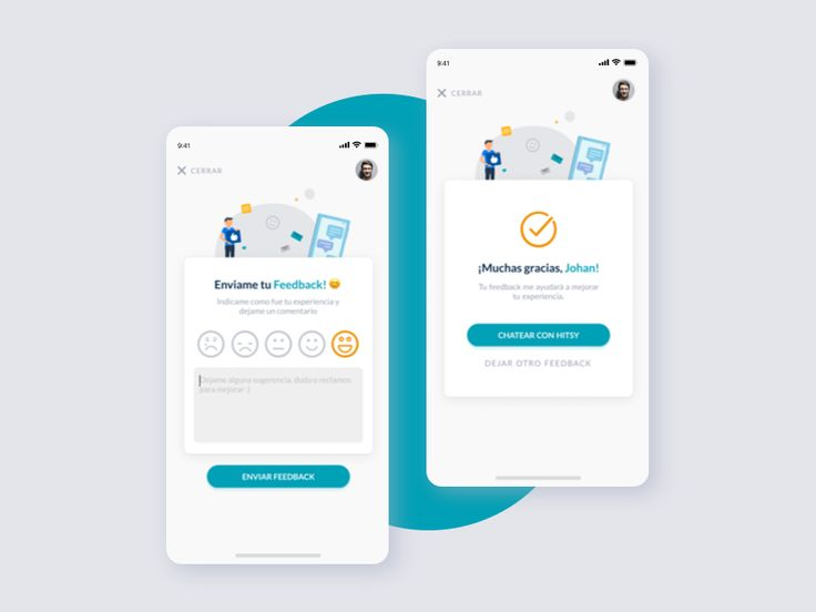 Feedback page app interface design mobile app interface