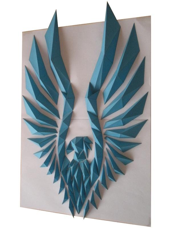 Eagle, Origami Mosaics: Kota Hiratsuka.