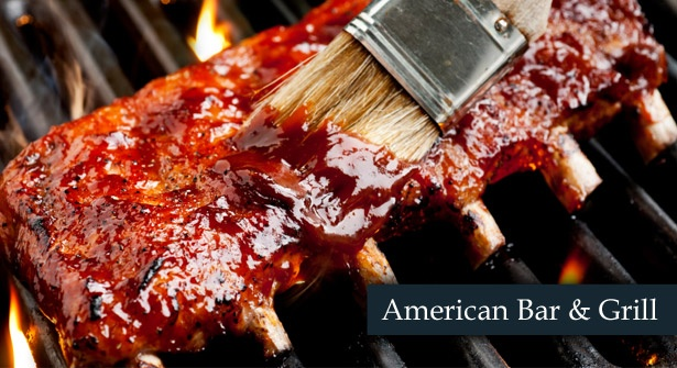 Get 50% off your food bill at the American Bar & Grill. Feast on succulent steaks, burgers, spicy nachos & more