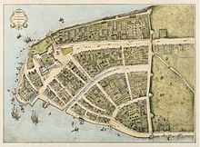 New Amsterdam, NY on Manhattan Island, outside of Fort Amsterdam