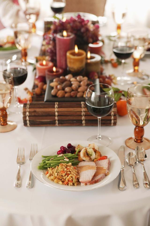 Decoraciones para la cena del Día de Acción de Gracias