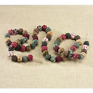 rag ball garland would be cute for a little country tree - could I do this with white and make it look like popcorn????