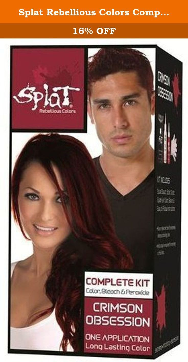 Splat Rebellious Colors Complete Kit Crimson Obsession Pack Of 2 The Unique Colors Complete Cri In 2020 Splat Hair Color Beauty Hair Color Lasting Hair Color