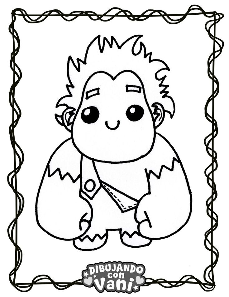 RALPH EL DEMOLEDOR KAWAII | Dibujos de anime, Dibujos ...