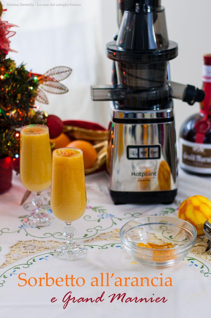 Il sorbetto all'arancia e Gran Marnier è un delizioso e rinfrescante intermezzo perfetto per una cena di festa. Il suo sapore richiama i tipici odori delle nostre tavole di Natale…il profumo dell'arancio e del liquore per un fine pasto tradizionale, ma innovativo. Io vi garantisco…