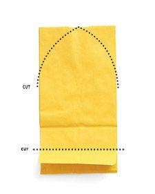 Fold bottom of a bag in on itself, as pictured. Cut above lower fold to remove bag's bottom.