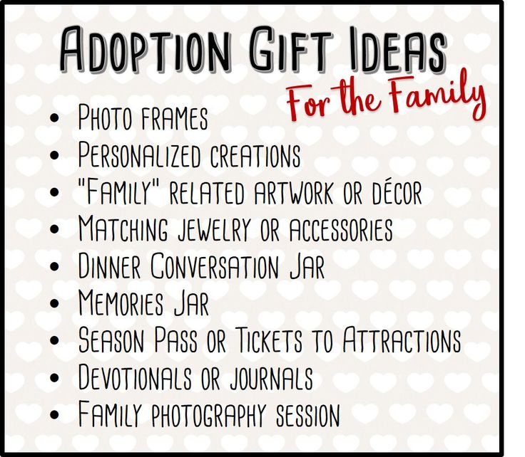 Adoption gift ideas for the family