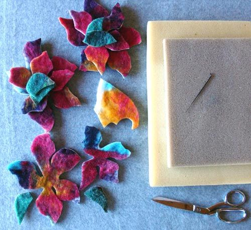 Free Needle Felting Projects | Here's a needle felting project that makes use of those felt scraps ...