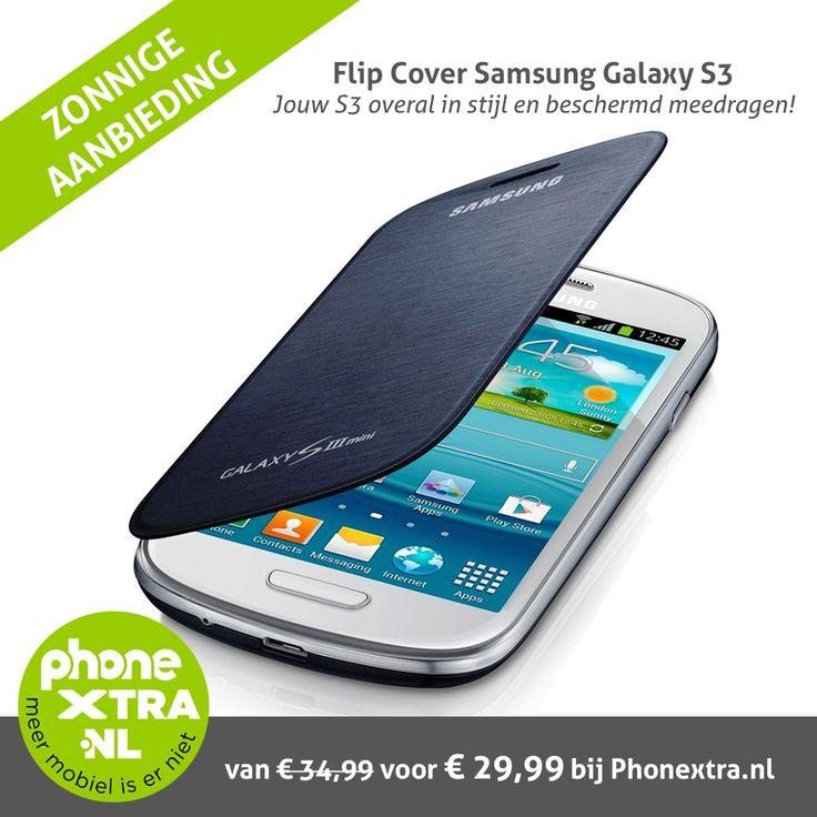De originele flipcases voor de Samsung Galaxy S3. Nu voor een zonnig prijsje; van 34,99 voor slechts €29,99.   Zo lang de zon schijnt...   In vele opvallende kleuren. Bekijk ze hier: http://www.phonextra.nl/samsung-flip-cover-voor-de-galaxy-s3-i9300.html