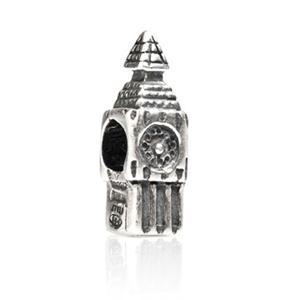 TEDORA CHARMS BEADS BIG BEN LONDON 925 STERLING SILVER