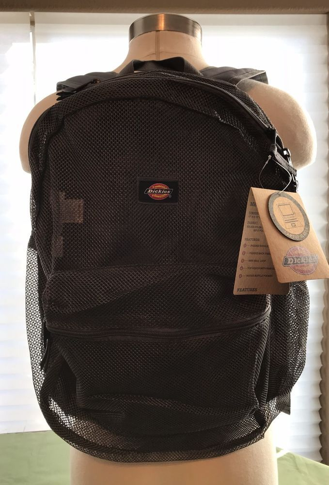 Dickies  Mesh Backpack Laptop Sleeve Padded Back rain cover Breathable NWT #Dickies #Backpack