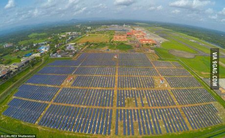 Cochin International Airport in India is now worlds first solar airport and has stopped paying for electricity #lol #funny #rofl #memes #lmao #hilarious #cute