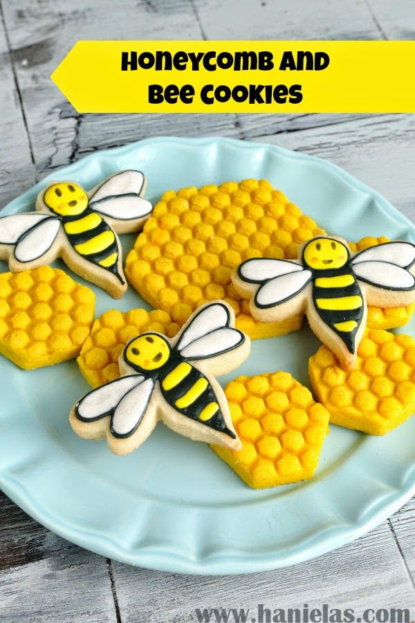 Honeycomb and Bee Cookies - Guest Post by Hani of Haniela's | Hungry Happenings