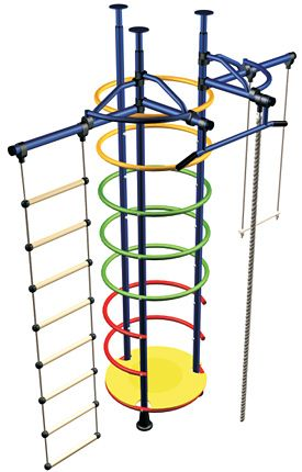 Gymnastics Equipment for Kids DSK 3-9.00. Metal Stairs: Popsicle Home Gym for Kids @ Cozy Furniture