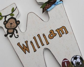 Personalized Wooden Wall Letters for Kids' Rooms door AllysCustomArt