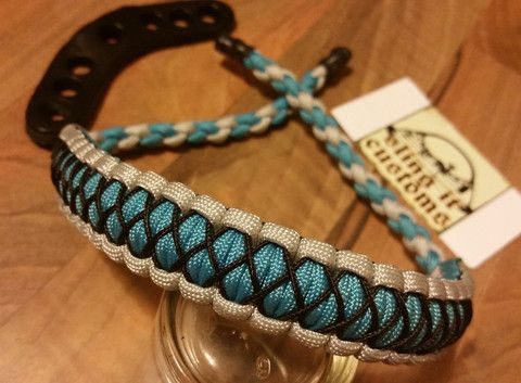 Bow Wrist Sling - Cobra with Microstitched Xs Weave - SlingIt Customs - 1