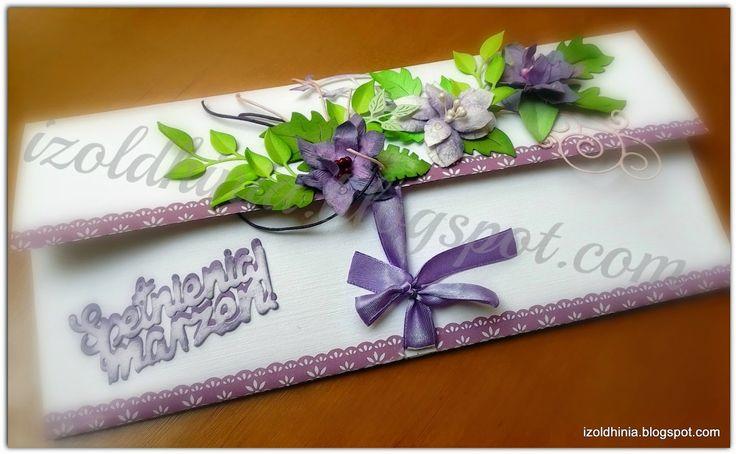 kopertówka / decorative envelope  urodziny