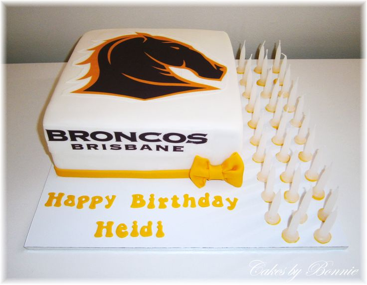 Brisbane Broncos cake for girl ** Cakes by Bonnie **
