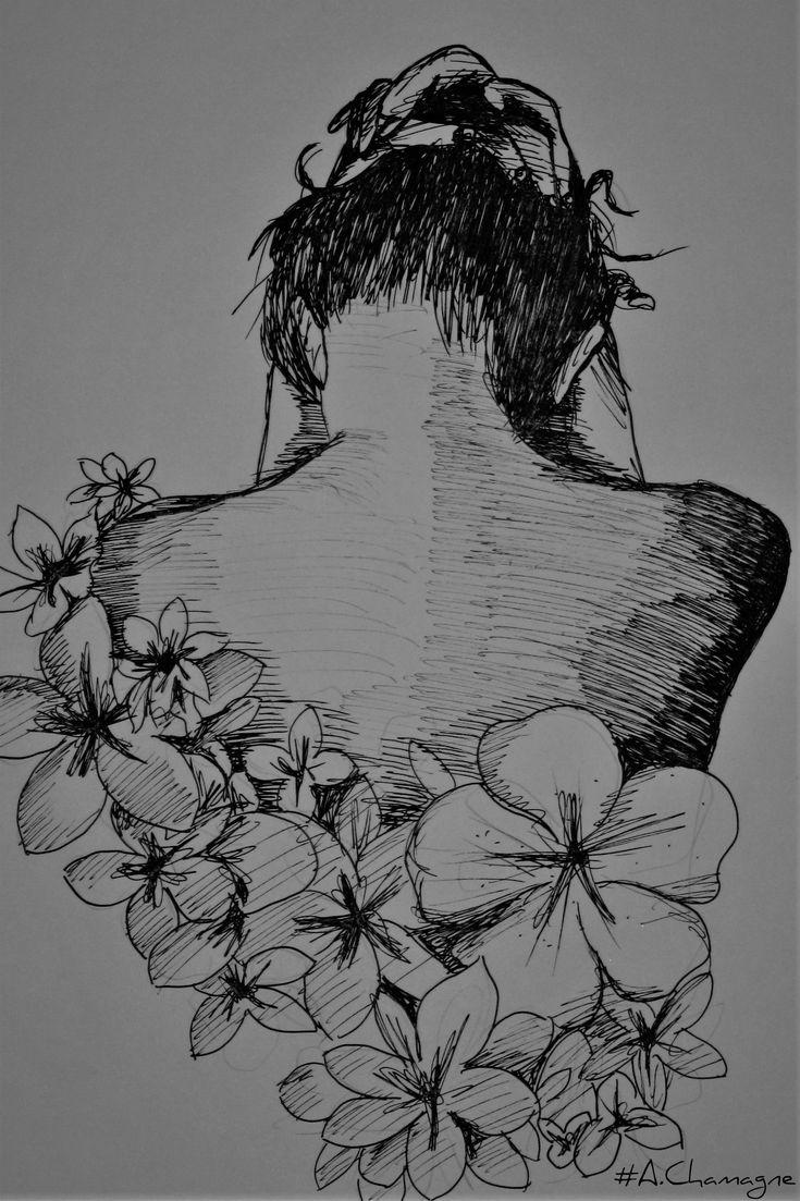 Passion Of Drawing achamagne dessins artiste jura franche comté prémanon dos femme