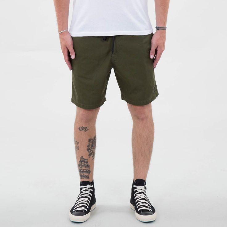 Port - Olive Shorts