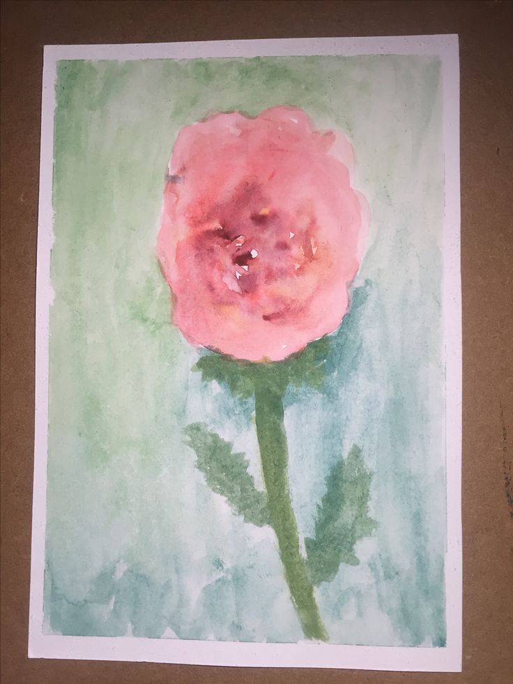 My first painting. A rose. 10/25/2016