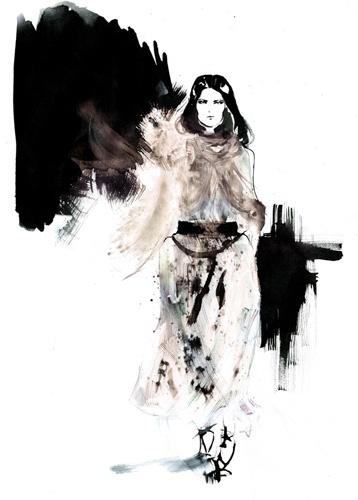 Amelie Hegardt #illustration #fashionillustration #watercolor #haute #trafficnyc