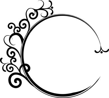 Circular swirl frame. Royalty Free Stock Vector Art Illustration