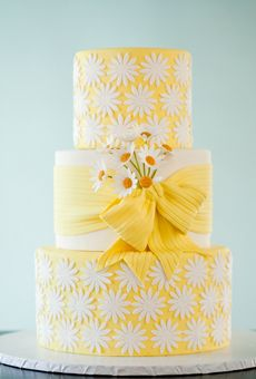 "Yellow Wedding Cakes | Brides.com - ""she loves me"" cake"