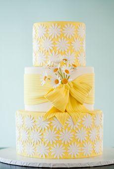 "Yellow Wedding Cakes | Brides.com - ""she loves me"" cake"
