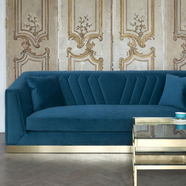 Peacock Designer Sofa - Any Size Any Fabric - Art Deco Inspired Design | Sweetpea & Willow