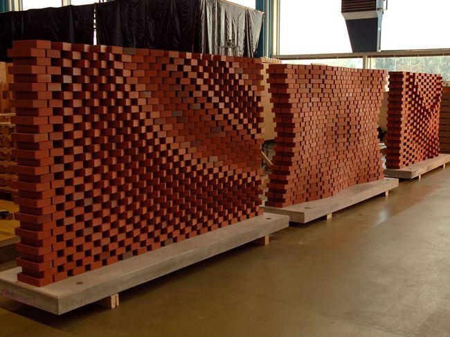 Parametric Brick Facade.  Fabrication by ROB at Keller Ziegeleien www.robmade.ch