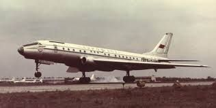 Original Tupolev Tu-104 passenger aircraft - one of first jet liners in the World.