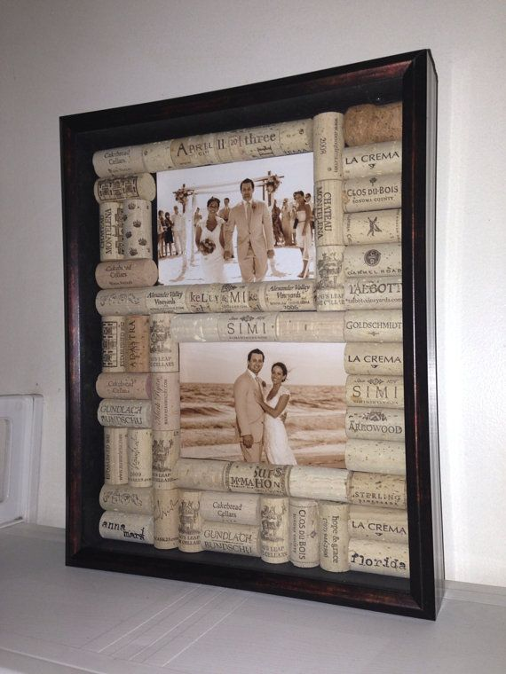 these handmade wine cork shadowboxes are the most unique gift you will find for freinds and