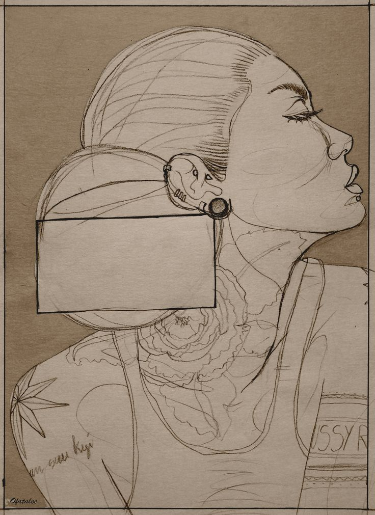 inked girl tattoo illustration poster