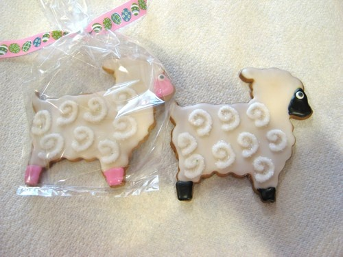 Lamb cookie cutters and lamb cookie jars