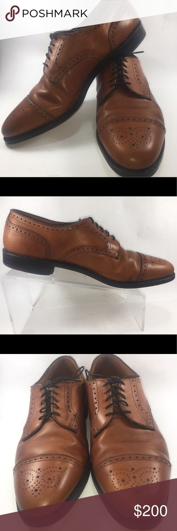 Allen Edmonds Sanford Walnut Cap Toe Oxfords 11 D Excellent Condition Some Normal Wear Including Scuffing & Sole Wear See Pictures. This Is A Highly Sought After Discontinued Model Allen Edmonds Sanford Walnut Cap Toe Lace Up Oxfords Size 11 D Shoe S318 Allen Edmonds Shoes Oxfords & Derbys