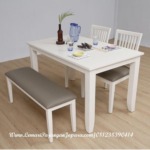 Jual Meja Makan Minimalis Cat Putih Duco Merupakan Desain Furniture Kursi Makan Ala Cafe Restoran Dengan Desain Minimali Meja Makan Meja Ruang Tamu Kursi Makan