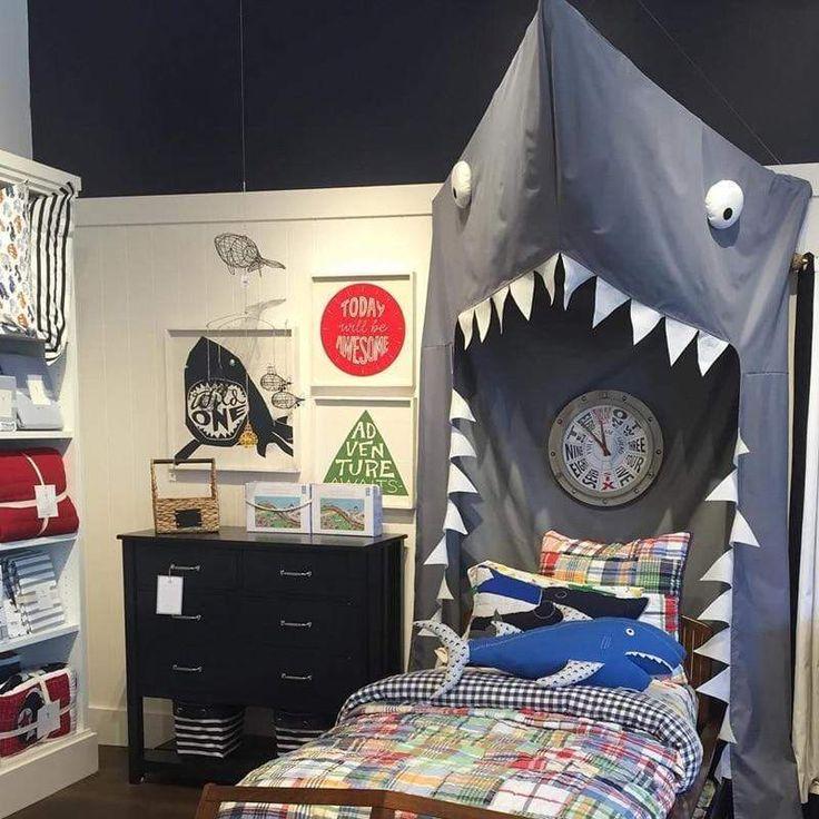 shark canopy  boys room decor nursery babyroomdecor