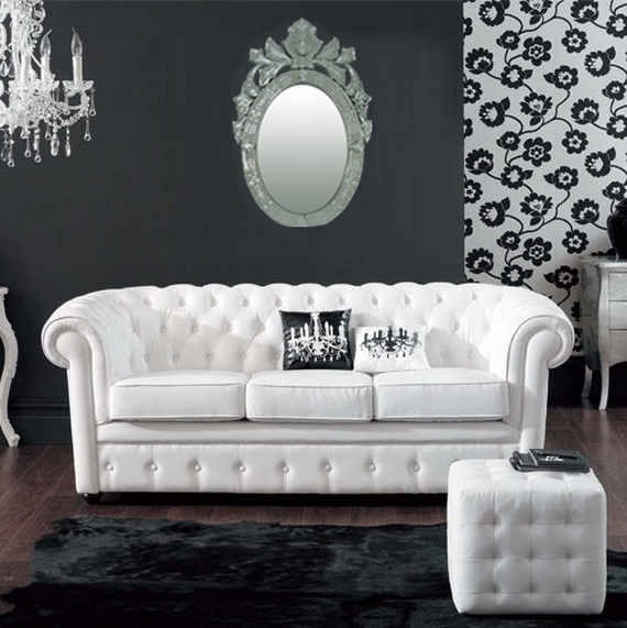 Latest Inspiration Baroque themed black and white decor and furniture Love black and white decor in the living room with a touch of red Idea -  Baroque sofa Set New