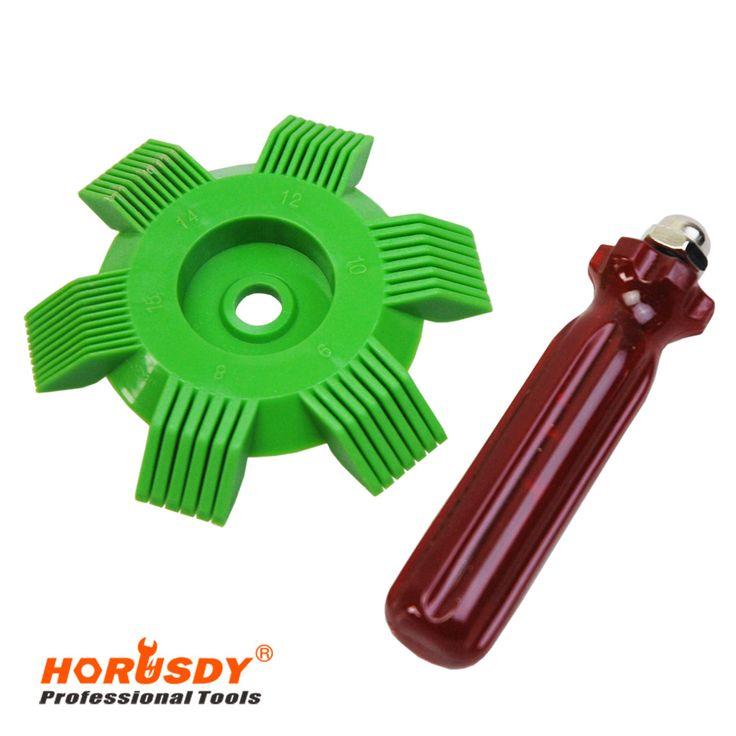 HORUSDY Alat A/C Evaporator Radiator Fin Reapir Kondensor Evaporator Coil Pelurus Sisir Rake Sisir