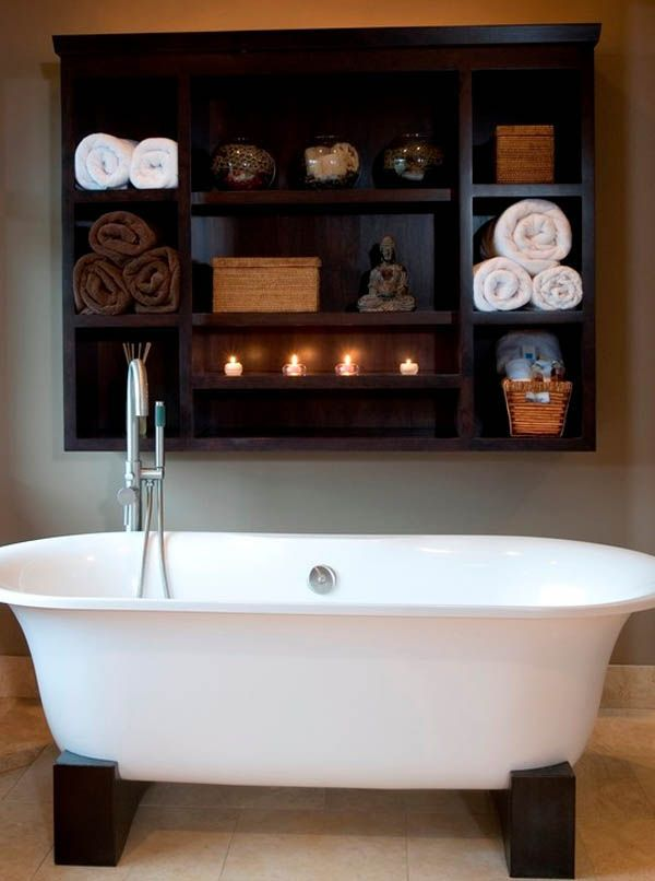 Best Bathroom Images On Pinterest Bathroom Ideas At The Top - Wooden towel storage for small bathroom ideas