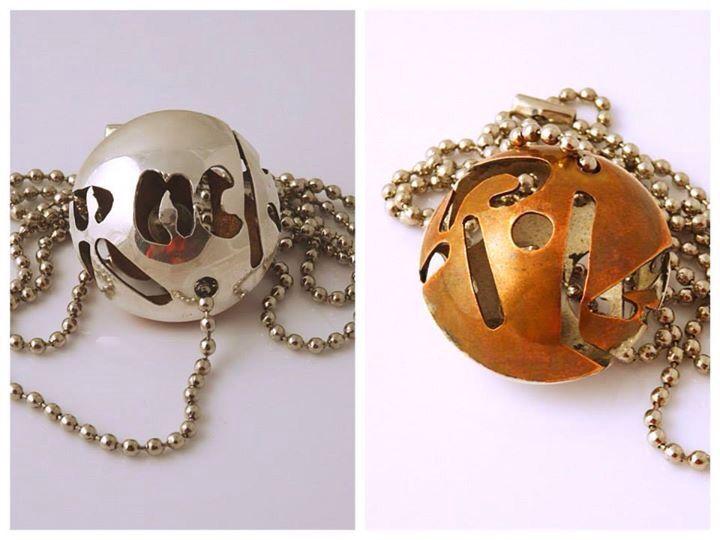 Pendant: silver,copper