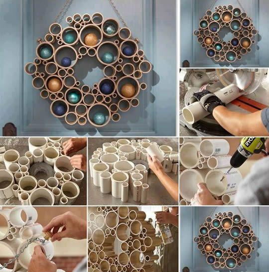 Artesanato com canos PVC para a casa